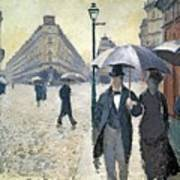 Sketch For Paris A Rainy Day Poster by Gustave Caillebotte