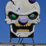 Skull Fun House Sign Poster by Garry Gay