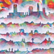 Skyline Poster by Rollin Kocsis