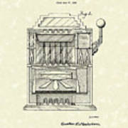 Slot Machine 1932 Patent Art Poster by Prior Art Design