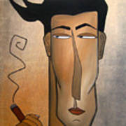 Smoke Break Poster by Tom Fedro - Fidostudio