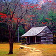Smoky Mtn. Cabin Poster by Paul W Faust -  Impressions of Light
