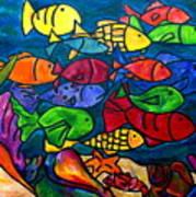 Snorkeling Off Norman Island Poster by Patti Schermerhorn