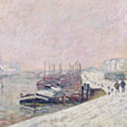 Snow In Rouen Poster by Jean Baptiste Armand Guillaumin