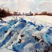 Snow On Southwick I Poster by Elizabeth Carr