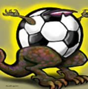Soccer Saurus Rex Poster by Kevin Middleton
