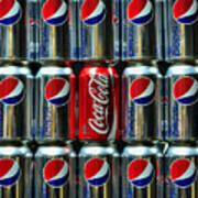 Soda - Coke Vs. Pepsi Poster by Paul Ward