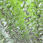 Soft Green And Gray Abstract Poster by Carol Groenen