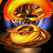 Solar Flare Abstract Poster by Alexander Butler