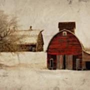 South Dakota Corn Crib Poster by Julie Hamilton