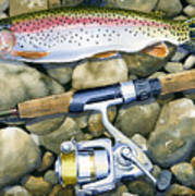 Spin Trout Poster by Mark Jennings