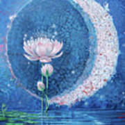 Springtime Moon Poster by Silvia  Duran