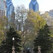 Sprintime At Rittenhouse Square Poster by Bill Cannon