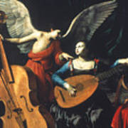 St. Cecilia And The Angel Poster by Granger