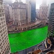 St Patrick's Day Chicago  Poster by Jeff Lewis