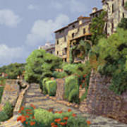 St Paul De Vence Poster by Guido Borelli