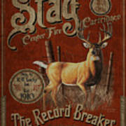 Stag Record Breaker Sign Poster by JQ Licensing