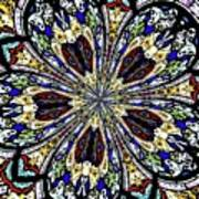 Stained Glass Kaleidoscope 38 Poster by Rose Santuci-Sofranko