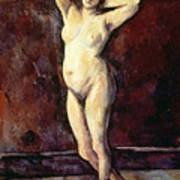 Standing Nude Woman Poster by Cezanne
