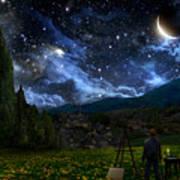Starry Night Poster by Alex Ruiz