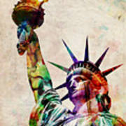 Statue Of Liberty Poster by Michael Tompsett