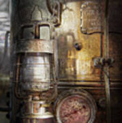 Steampunk - Silent Into The Night Poster by Mike Savad