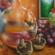 Still Life In Oil Poster by Evelyn Sichrovsky