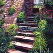 Stone Steps Tuscany Poster by David Lloyd Glover