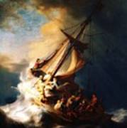 Storm On The Sea Of Galilee Poster by Pg Reproductions