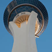 Stratosphere Tower Up Close Poster by Andy Smy
