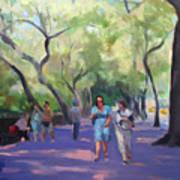 Strolling In Central Park Poster by Merle Keller