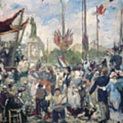 Study For Le 14 Juillet 1880 Poster by Alfred Roll