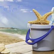 Summer Vacation Poster by Amanda Elwell