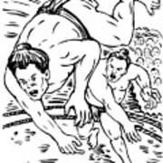 Sumo Wrestlers Poster by Aloysius Patrimonio
