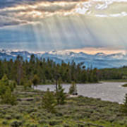 Sun Rays Filtering Through Clouds Poster by Trina Dopp Photography