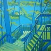 Suncook Stairwell Poster by Debra Robinson