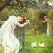 Sunday Afternoon - Ladies In A Garden Poster by English School