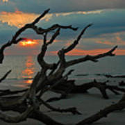 Sunrise At Driftwood Beach 2.2 Poster by Bruce Gourley