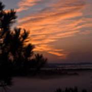 Sunrise Over The Mist Poster by Douglas Barnett