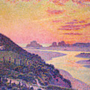 Sunset At Ambleteuse Pas-de-calais Poster by Theo van Rysselberghe