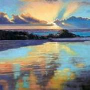 Sunset At Havika Beach Poster by Janet King