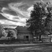 Sunset In Grafton Ghost Town Poster by Sandra Bronstein