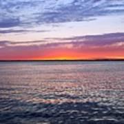 Sunset On Barnegat Bay I - Jersey Shore Poster by Angie Tirado