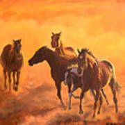 Sunset Run Poster by Jana Goode