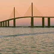 Sunshine Skyway Bridge Poster by Ixefra