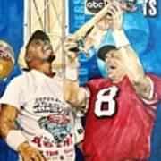 Super Bowl Legends Poster by Lance Gebhardt