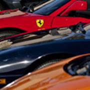 Supercars Ferrari Emblem Poster by Jill Reger