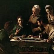 Supper At Emmaus Poster by Michelangelo Merisi da Caravaggio