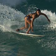 Surfer Girl Poster by Brad Scott