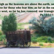 Surreal Old Wagon Ps.103 V 11-12 Poster by Linda Phelps